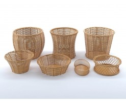 Wicker baskets collection