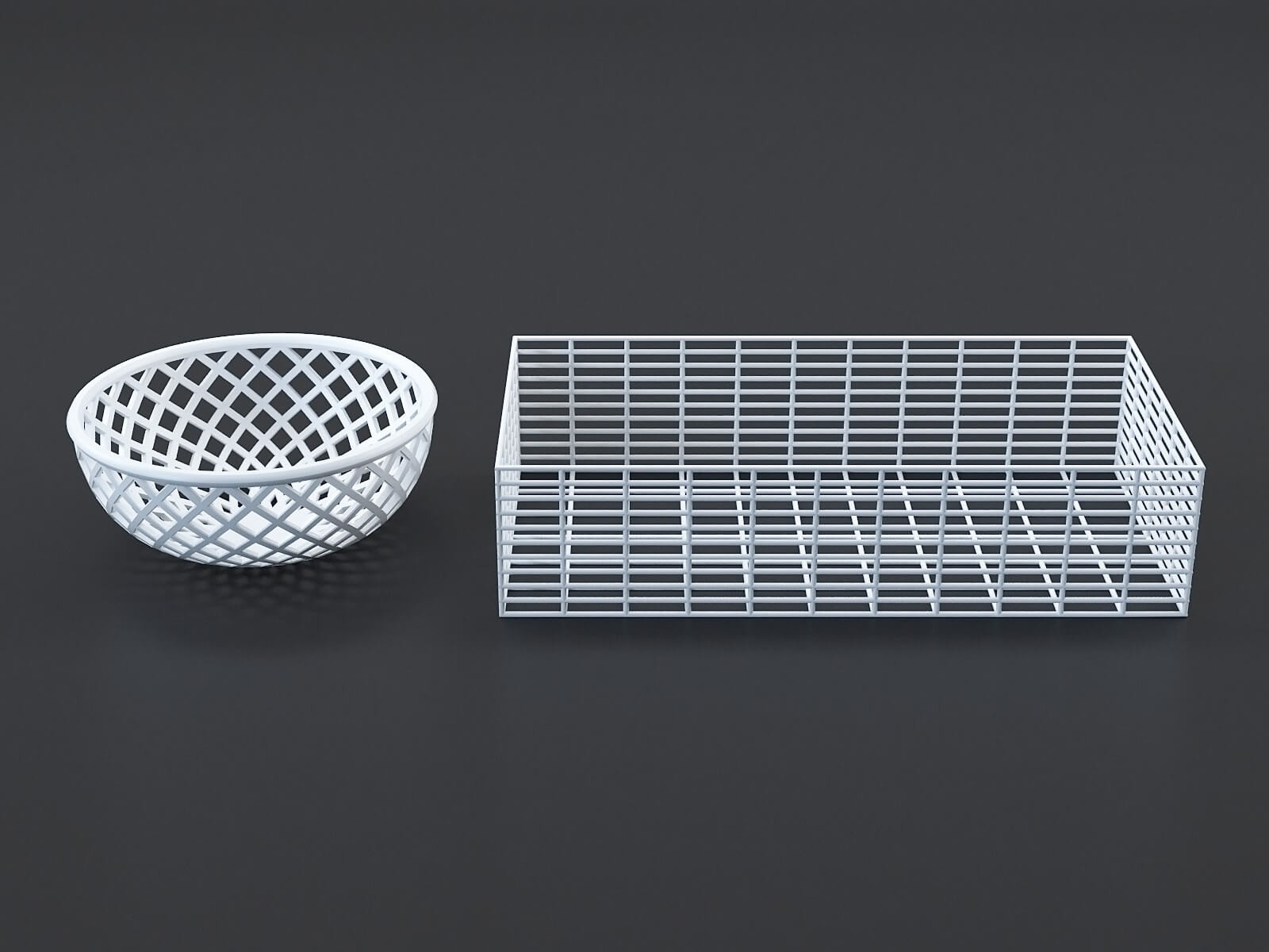 White baskets (set of 2)