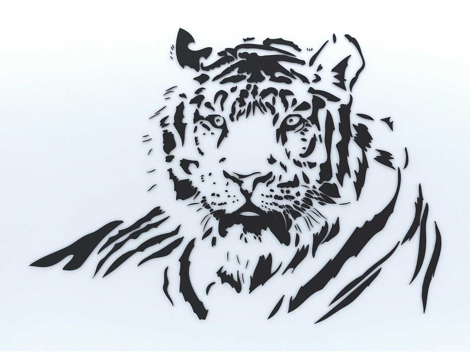 Décoration murale tigre