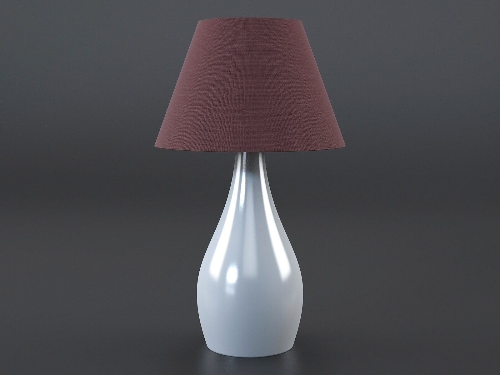 Red white table lamp