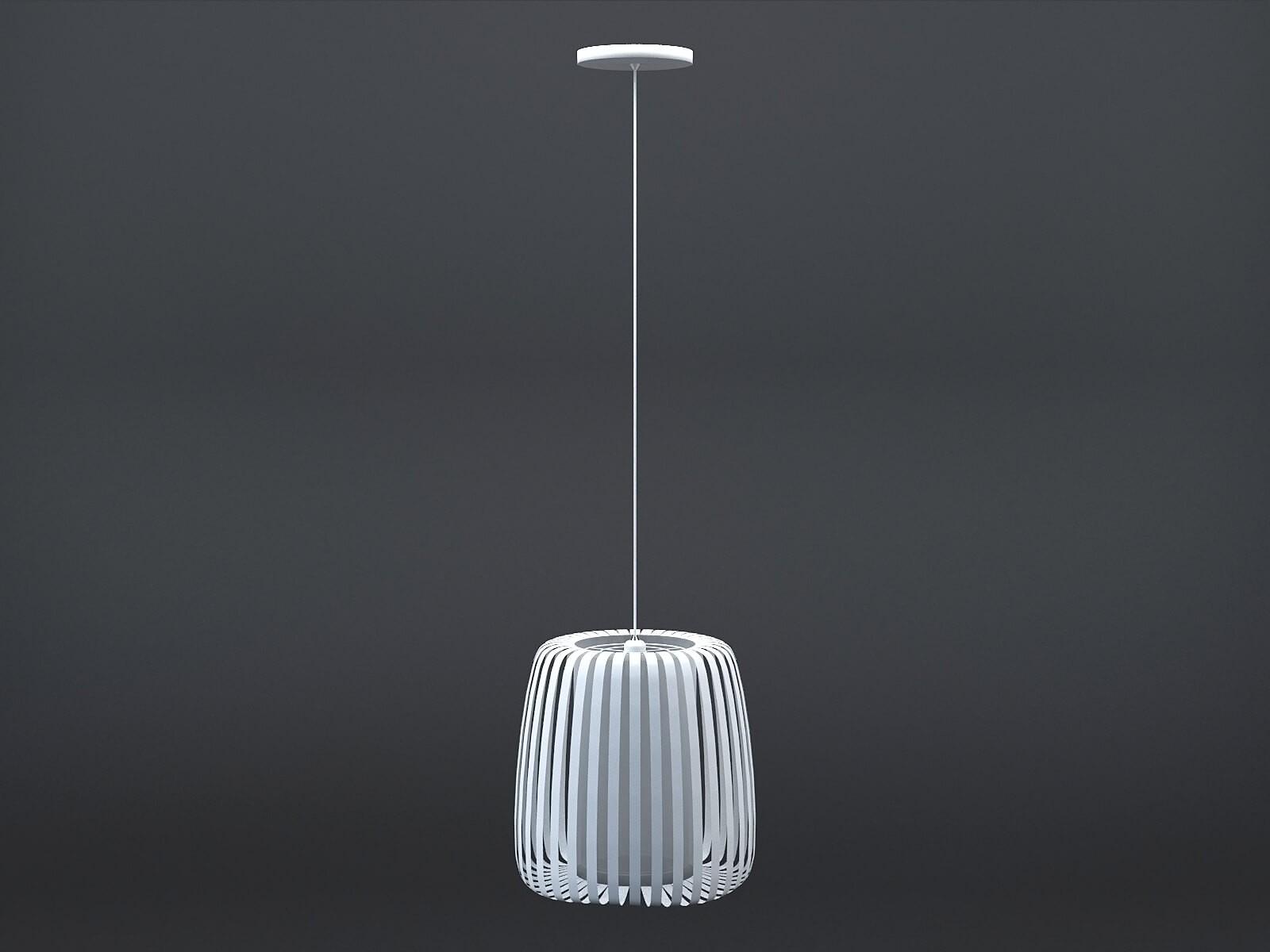 Lampe suspension Polly blanc