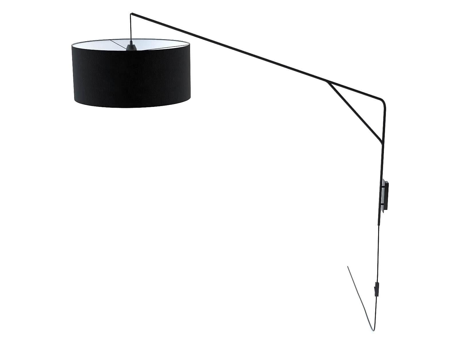 Black wall lamp