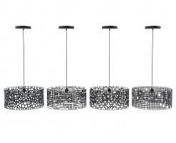 Collection lampes motifs noir