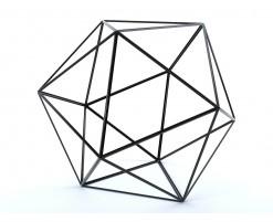 Decorative metal dice