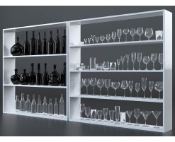 Glasses and bottles collection