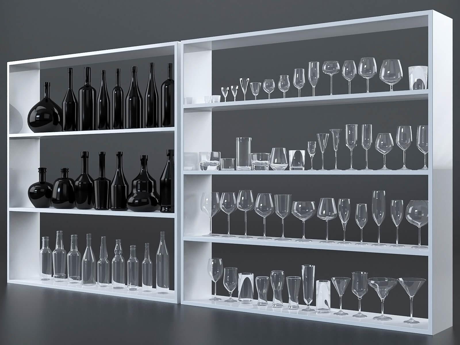 Collection verres et bouteilles