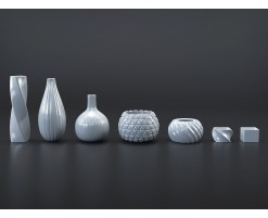 Collection vases blancs/noirs