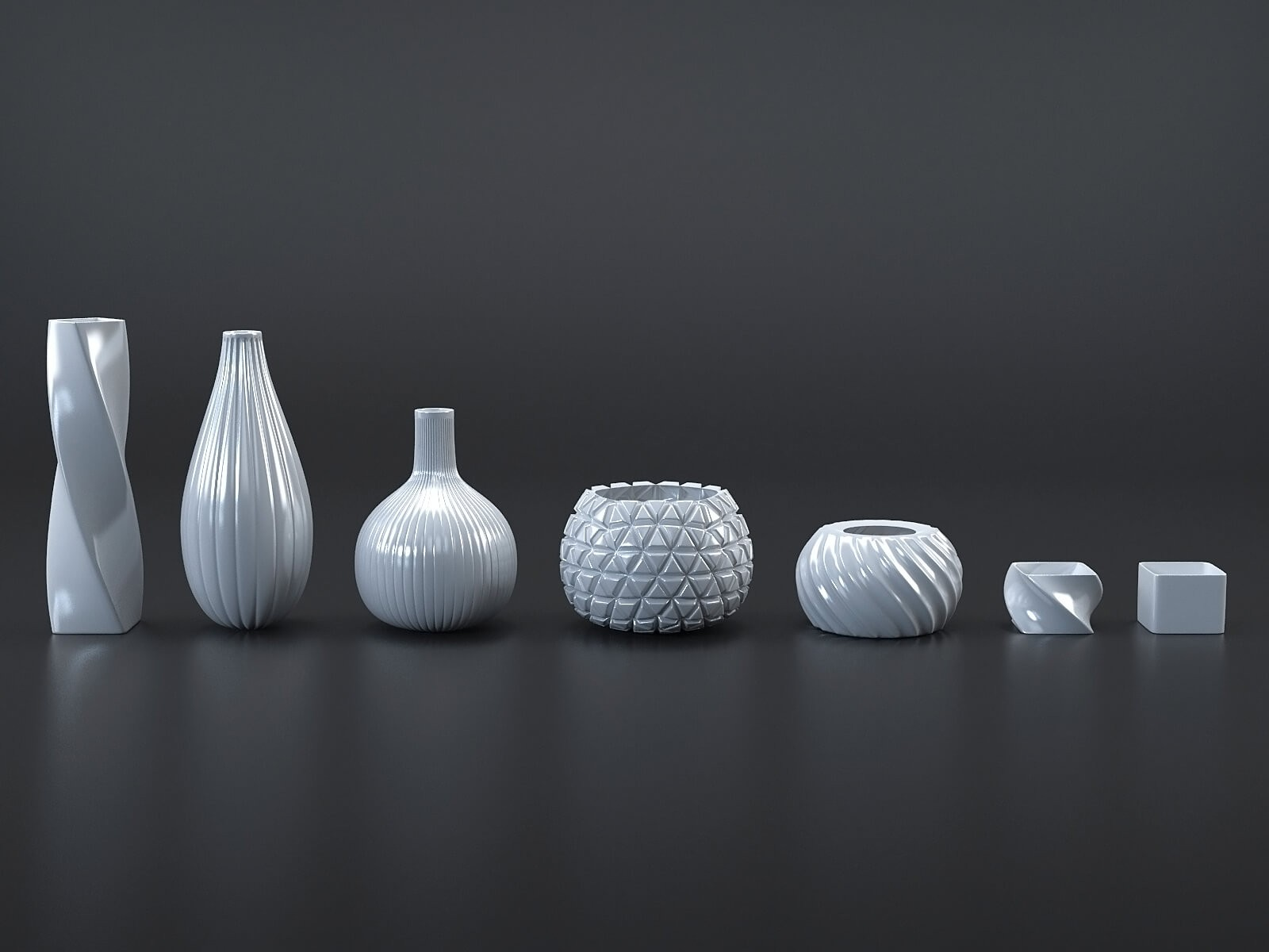 White/Black vases collection