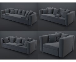 Collection 1 : black sofas