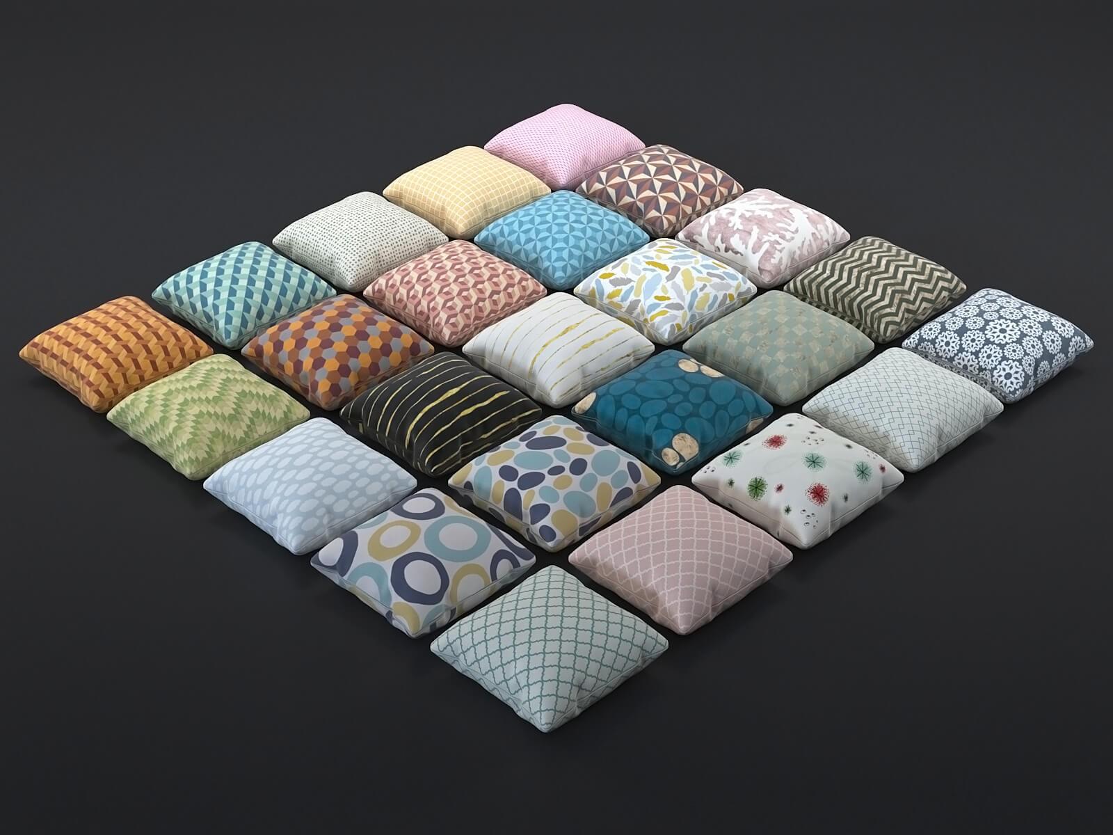 Pattern cushions 1 (set of 25)