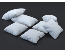 White fabric cushion (set of 7)