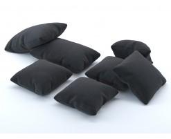 Black fabric cushion (set of 7)
