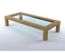 Wood living room coffee table (1)