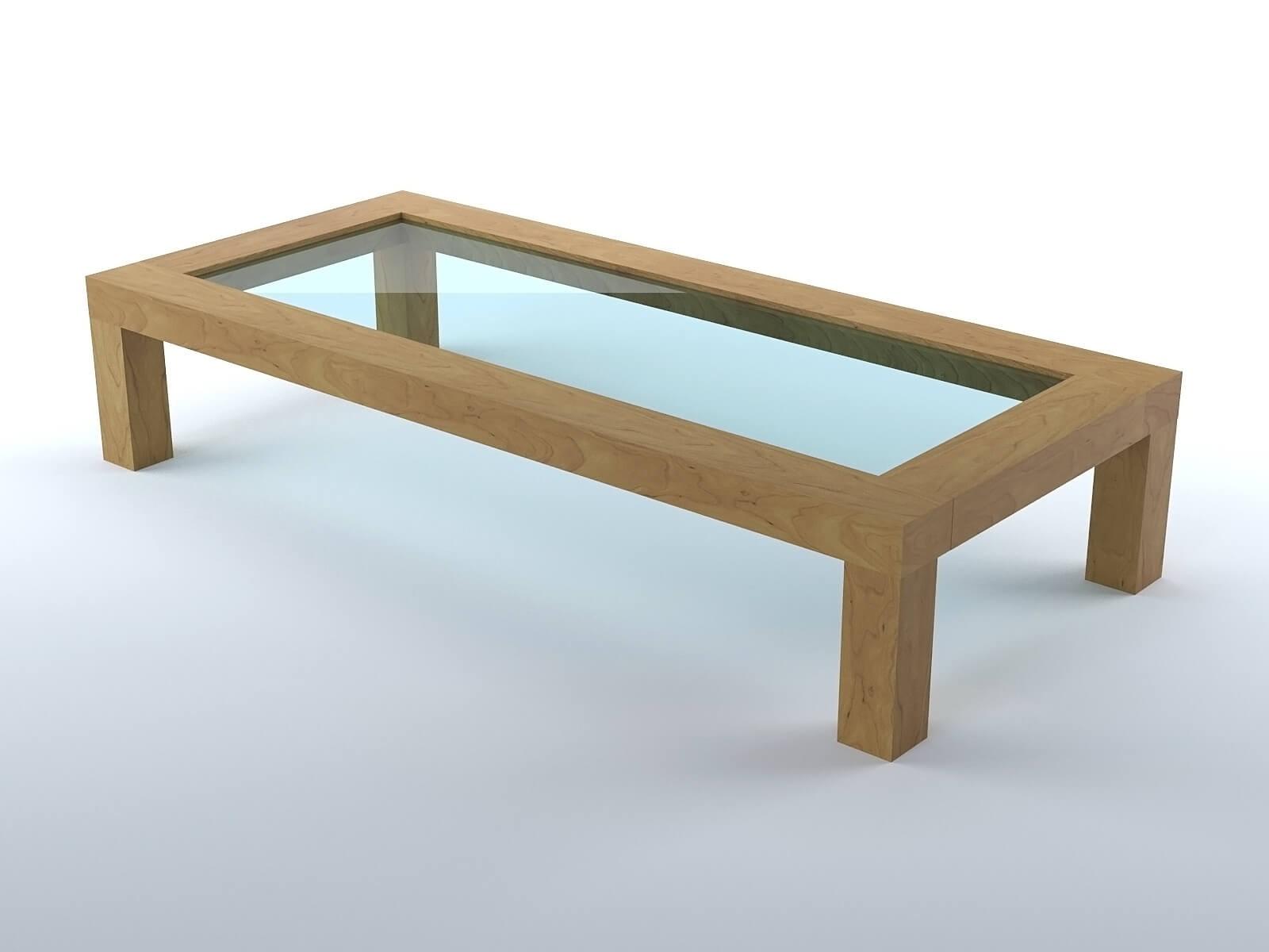 Table Basse De Salon En Bois Modele 3d