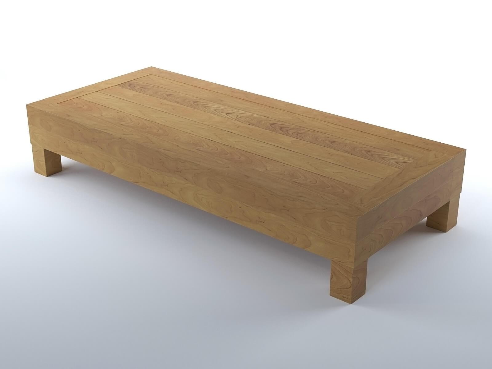 Table Basse De Salon En Bois Modèle 3d