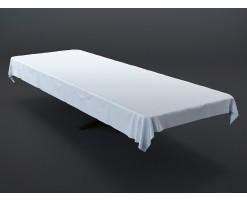 Table bois massif et nappe