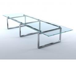Table salle à manger verre aluminium