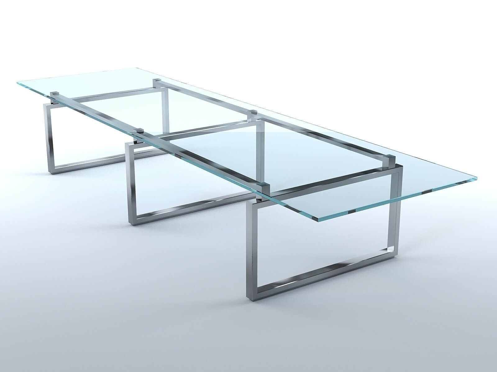 Aluminum glass dining room table