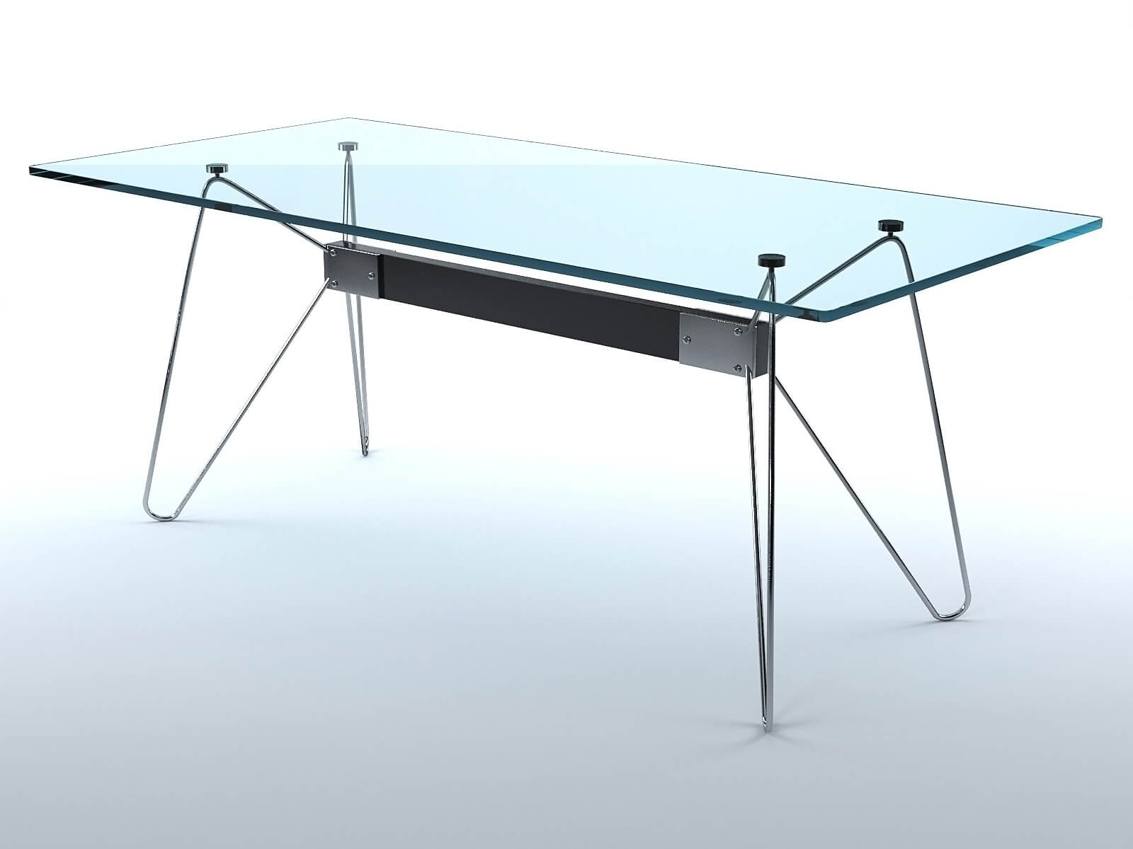 Glass tables (set of 2)