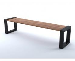 Wooden metal bench