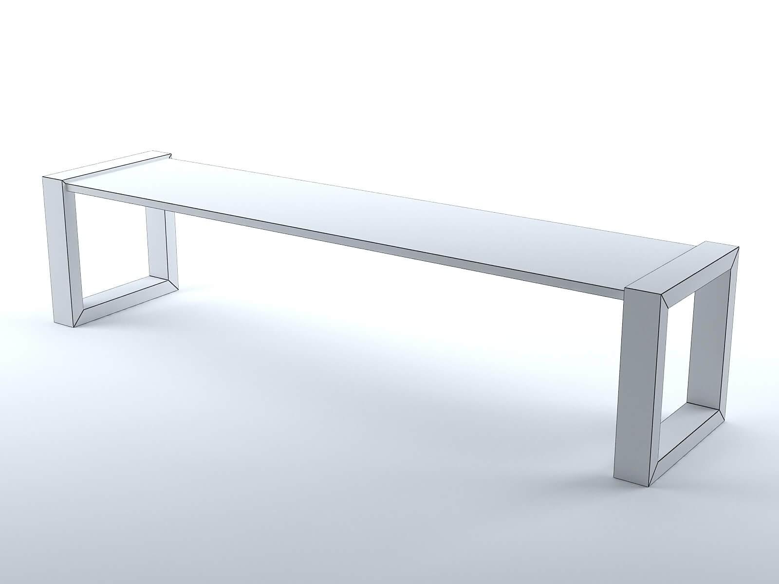 banc en bois et m tal mod le 3d. Black Bedroom Furniture Sets. Home Design Ideas
