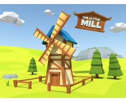 Low poly mill assets