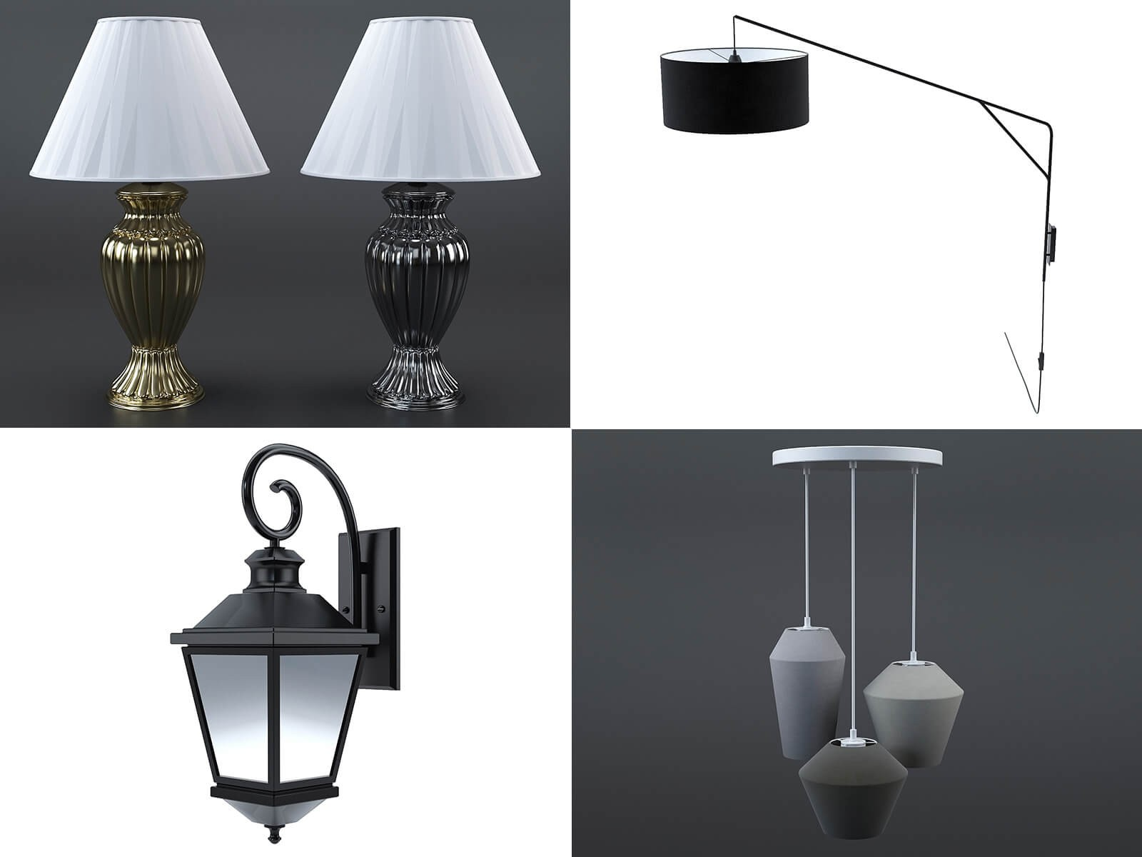 Lamps collection (set of 30)