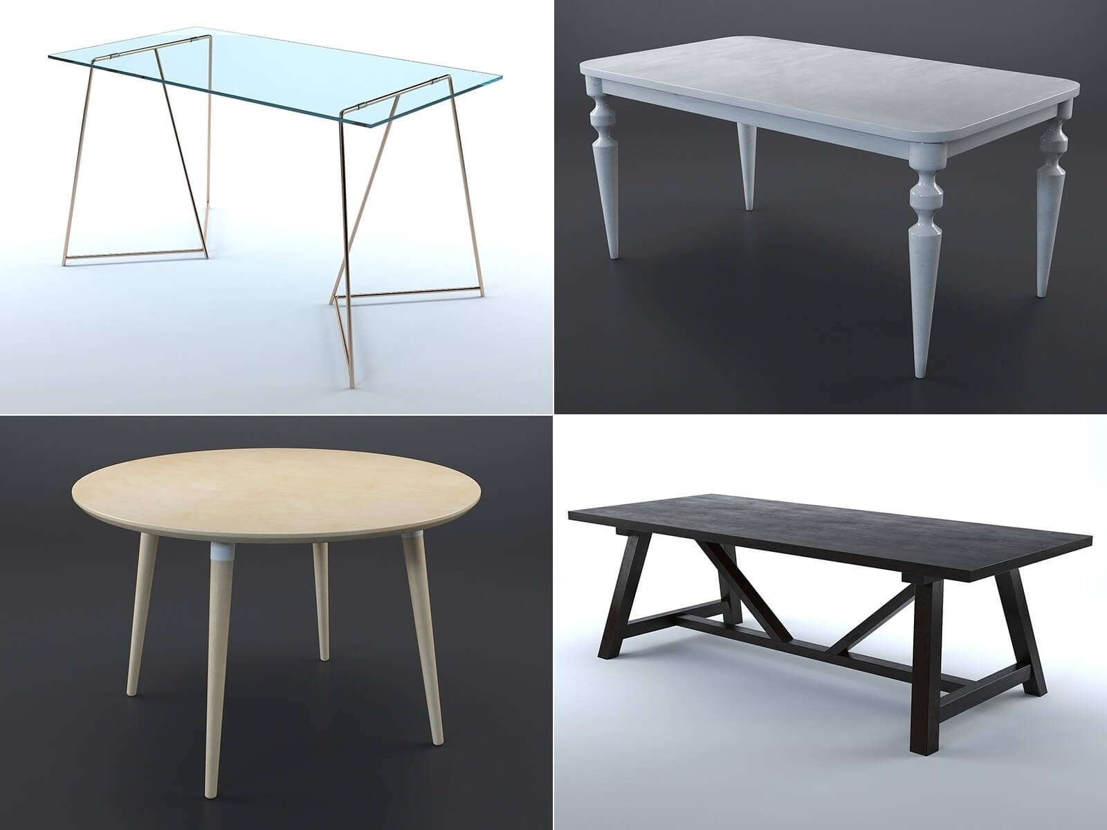 Collection tables (lot de 8)