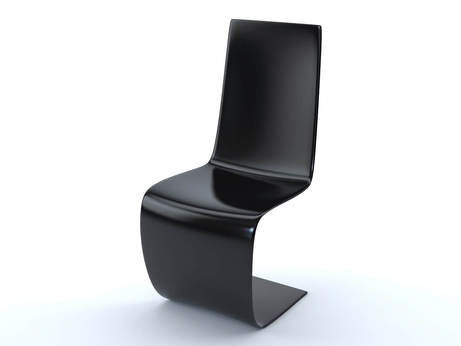 Black S chair