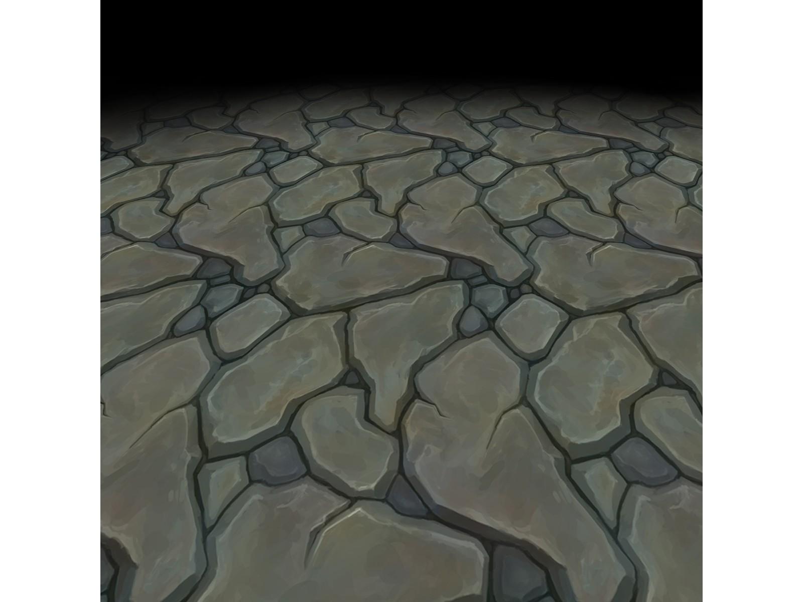Stone floor texture 1 (hand painted)
