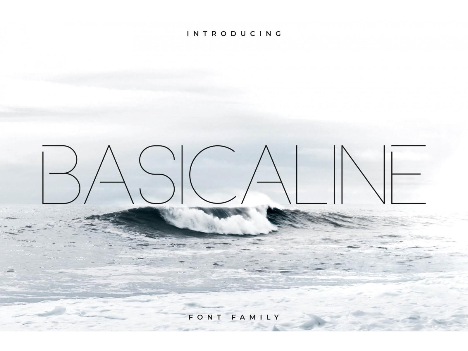 Basicaline Police d'écriture - Sans Serif