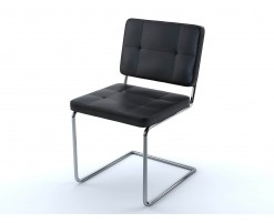 Black leather Aston chair