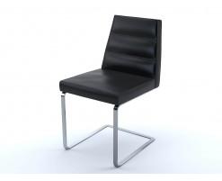 Chaise Ellison cuir noir