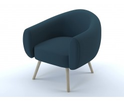 Lottie armchair steel blue